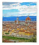 1166 Florence Italy Fleece Blanket