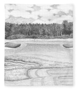 11th Hole - Trump National Golf Club Fleece Blanket