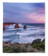 12 Apostles At Sunset II Fleece Blanket