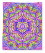 Birth Mandala- Blessing Symbols Fleece Blanket