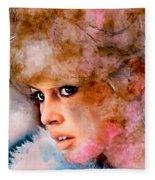 Brigitte Bardot Fleece Blanket