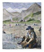 California Gold Rush Fleece Blanket