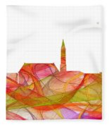 Cheyenne Wyoming Skyline Fleece Blanket