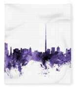 Dublin Ireland Skyline Fleece Blanket