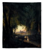 Forest Path Near Spandau Fleece Blanket