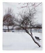 Obear Park In Winter Fleece Blanket