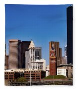 Seattle Skyline Fleece Blanket