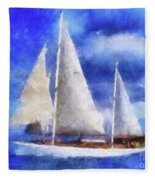 Ships Ahoy Fleece Blanket