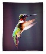 1257-006 - Ruby-throated Hummingbird Fleece Blanket