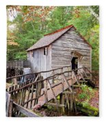 1267 Great Smoky Mountain Cable Mill Fleece Blanket