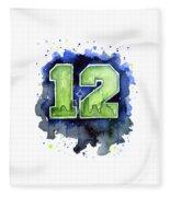 12th Man Seahawks Art Seattle Go Hawks Fleece Blanket