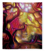 13 Abstract Japanese Maple Tree Fleece Blanket