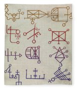 Cabbalistic Signs And Sigils, 18th Fleece Blanket