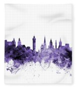 Glasgow Scotland Skyline Fleece Blanket