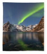 Hamnoy Lofoten - Norway Fleece Blanket