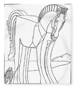 Homer: The Iliad Fleece Blanket