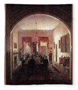 Jlm-1820-henry Sargent-the Dinner Party 782x1024 Henry Sargent Fleece Blanket