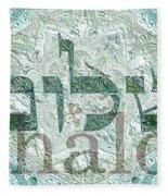 Shalom, Peace Fleece Blanket