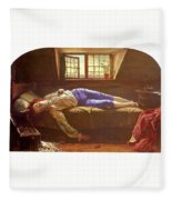 Wallis Henry The Death Of Chatterton Henry Wallis Fleece Blanket