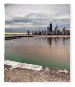 1323 A View From The Breakwall Fleece Blanket