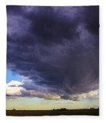 Afternoon Nebraska Thunderstorm Fleece Blanket