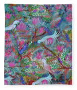 Birds Symphony Fleece Blanket