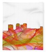 Birmingham Alabama Skyline Fleece Blanket