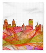 Buffalo New York Skyline Fleece Blanket