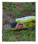 14- Chip Lovin' Squirrel Fleece Blanket