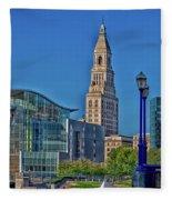 Downtown Hartford Fleece Blanket