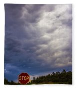 May Nebraska Storm Cells Fleece Blanket