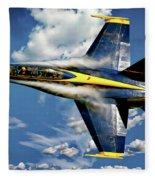Navy Blue Angels Fleece Blanket