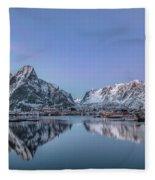 Reine, Lofoten - Norway Fleece Blanket
