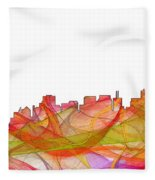 San Francisco California Skyline Fleece Blanket