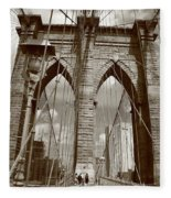 Brooklyn Bridge - New York City Fleece Blanket