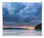 Cloudy Sunrise Seascape Fleece Blanket