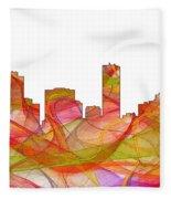 Denver Colorado Skyline Fleece Blanket