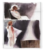 dracula John J Muth Fleece Blanket