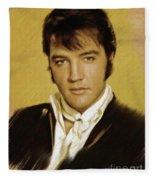 Elvis Presley, Rock And Roll Legend Fleece Blanket