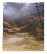 First Nebraska Storm Chase 2015 Fleece Blanket