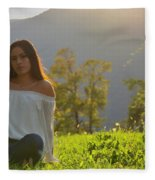 Golden Hour Senior  Fleece Blanket