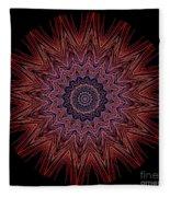 Kaleidoscope Image Created From Light Trails Fleece Blanket