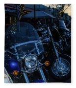 Motorcycles On Main Fleece Blanket