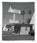 Route 66 - Wigwam Motel Fleece Blanket