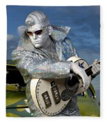 Silver Elvis Fleece Blanket