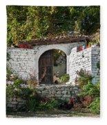 Street In Berat Old Town In Albania Fleece Blanket