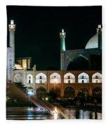 The Shah Mosque Famous Landmark In Isfahan City Iran Fleece Blanket