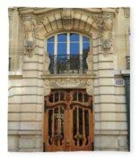 151 Rue De Grenelle Paris Fleece Blanket