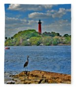 16- Jupiter Lighthouse Fleece Blanket