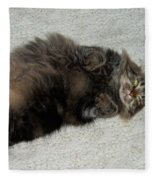 Maine Coon Cat Fleece Blanket